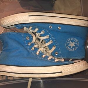 Blue double flap Converse
